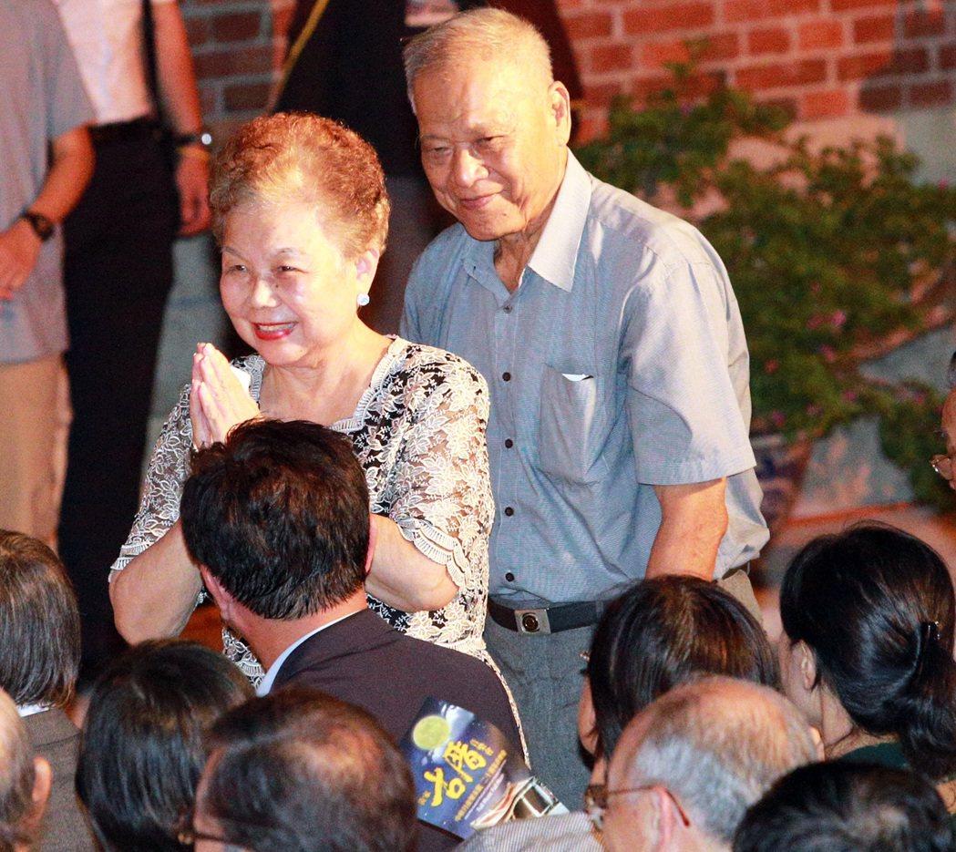 柯文哲父母出席古厝音樂會。記者劉學聖/攝影