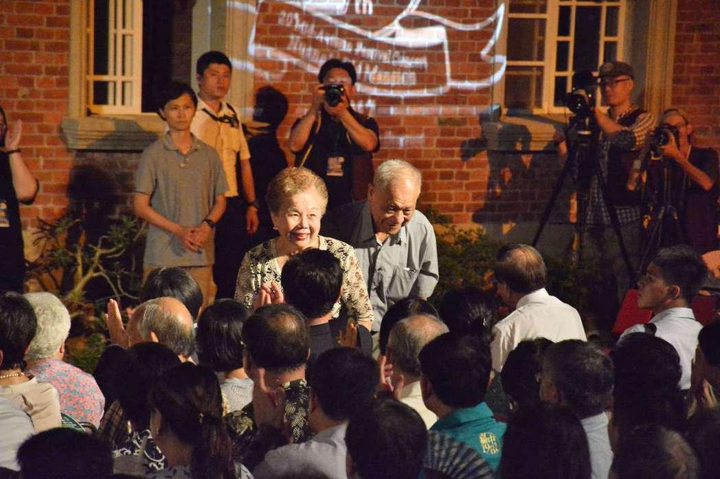 台北市長柯文哲父母親出席音樂會。記者吳淑玲/攝影