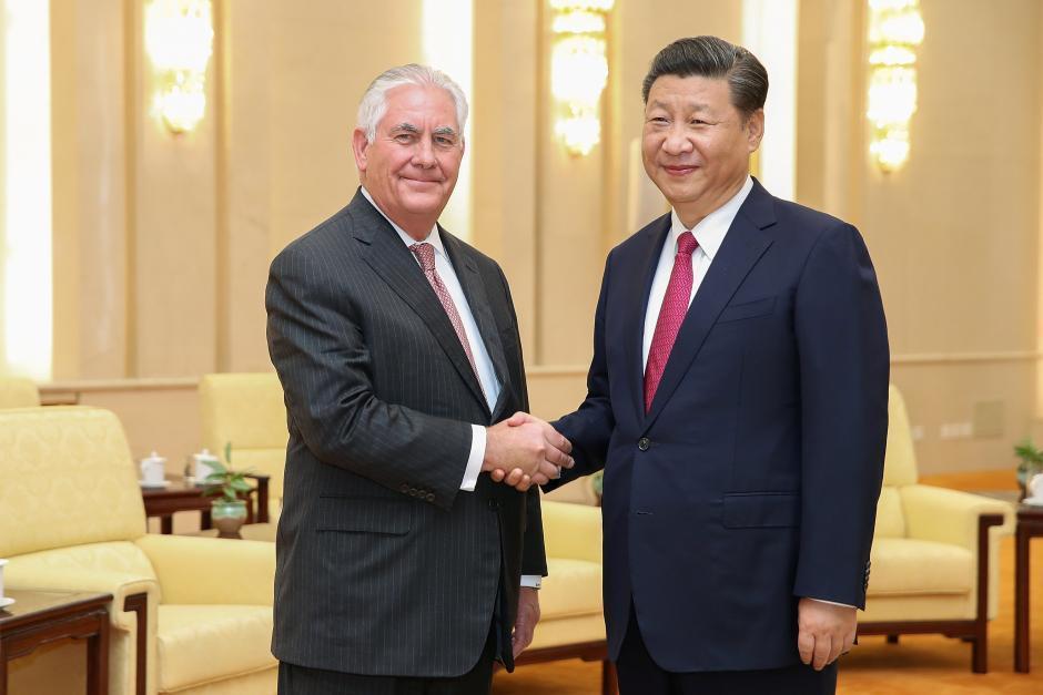 提勒森30日在北京會晤中國大陸國家主席習近平。路透