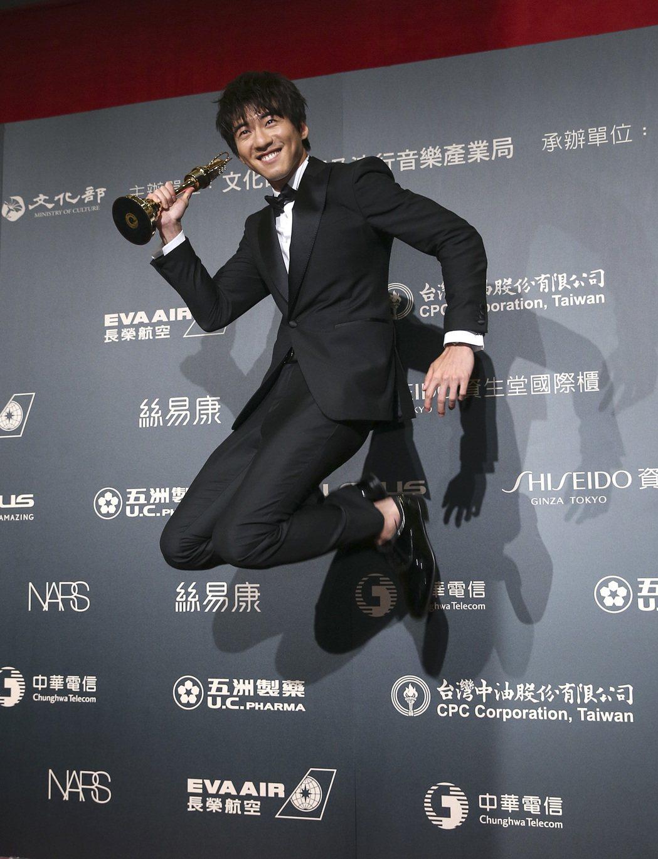 第52屆金鐘獎,傅孟柏獲迷你劇集/電視電影男主角獎。記者鄭清元/攝影