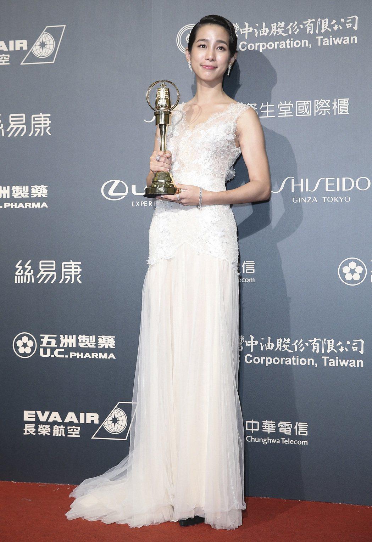 第52屆金鐘獎,温貞菱獲迷你劇集/電視電影女主角獎。記者鄭清元/攝影
