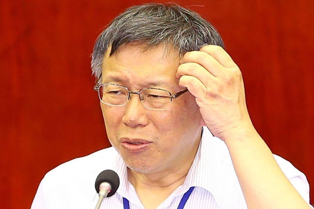 柯文哲說他2014年去探扁,扁還跟他討論台北市長要怎麼選。 本報資料照片