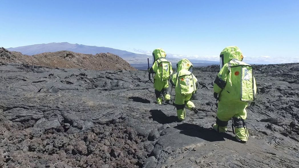 美國在夏威夷進行的模擬火星任務。 (美聯社)