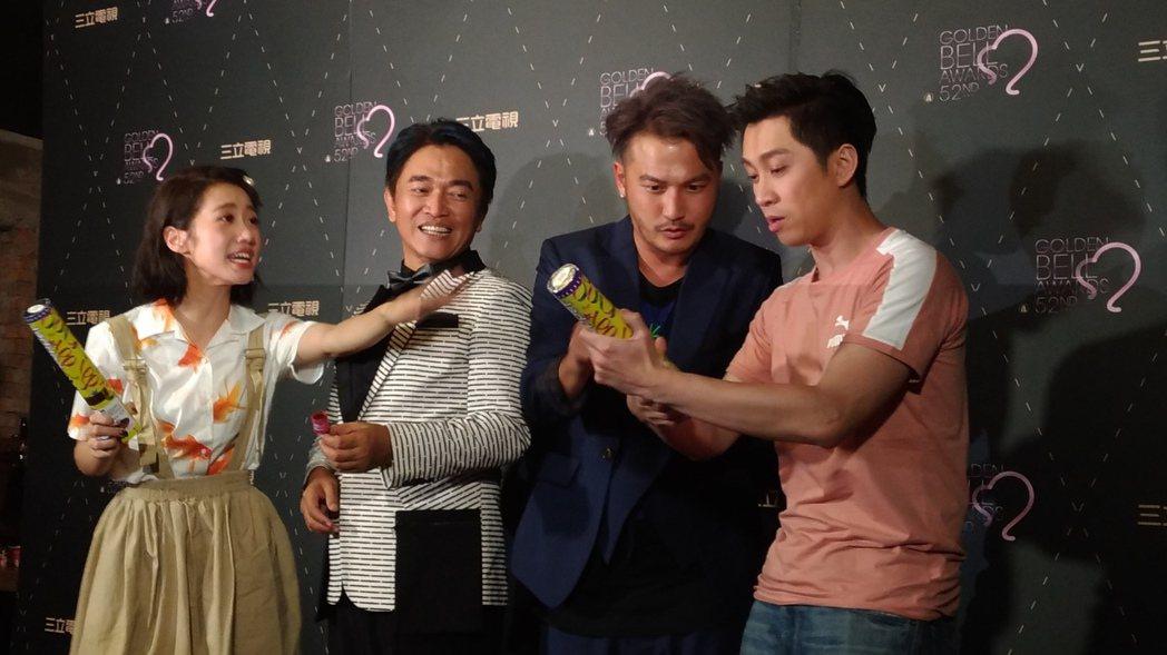 吳宗憲與Kid趕來參加三立的慶功宴。記者李姿瑩/攝影