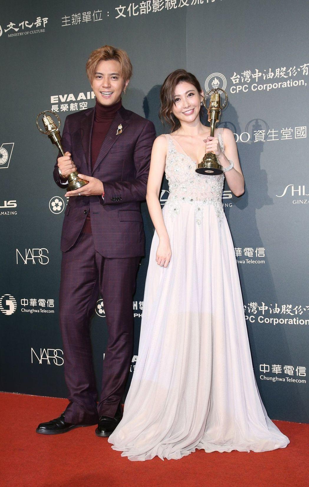 羅志祥(左)與愷樂。記者陳立凱/攝影