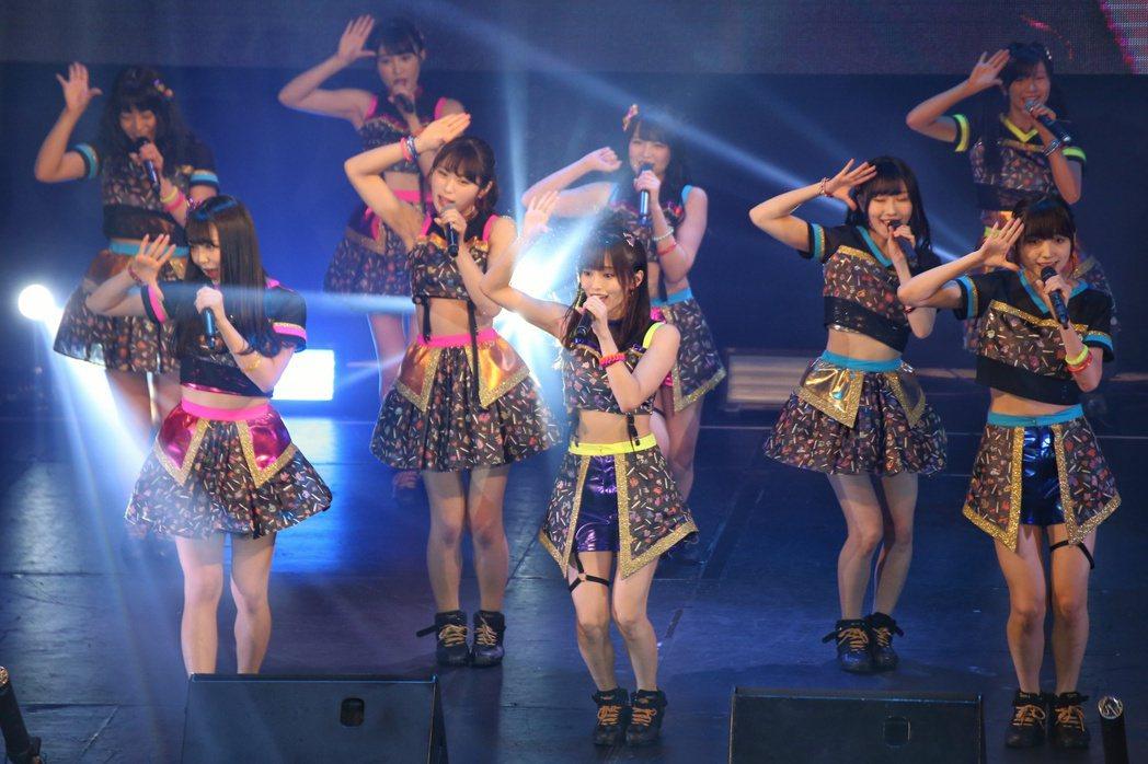 NMB48於ATT 4 FUN舉辦台北演唱會。記者陳立凱/攝影