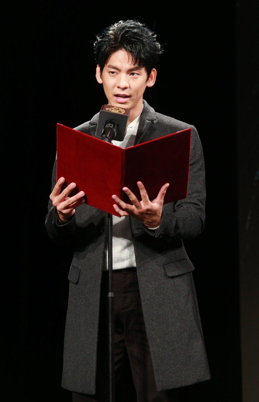 第53屆金馬獎最佳男配角林柏宏,負責揭曉54屆金馬入圍名單。記者黃義書/攝影