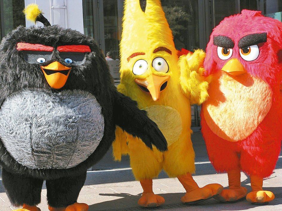 芬蘭遊戲商Rovio著名的憤怒鳥遊戲玩偶。 路透