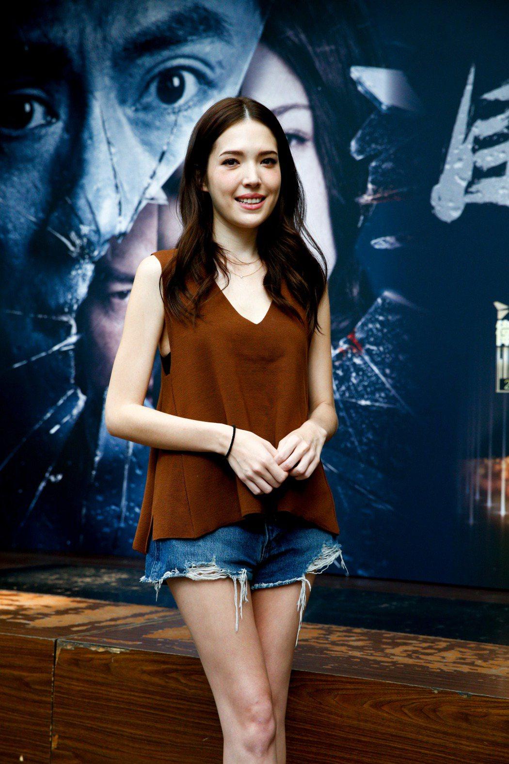 許瑋甯今天下午出席國片「目擊者」首播記者會。記者程宜華/攝影