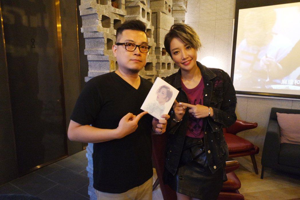 A-Lin接受DJ彼得的訪問。圖/城市廣播網提供
