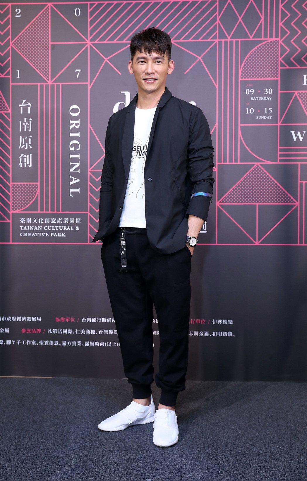 溫昇豪出席台南原創時裝周,久未走秀魅力不減當年。圖/伊林提供