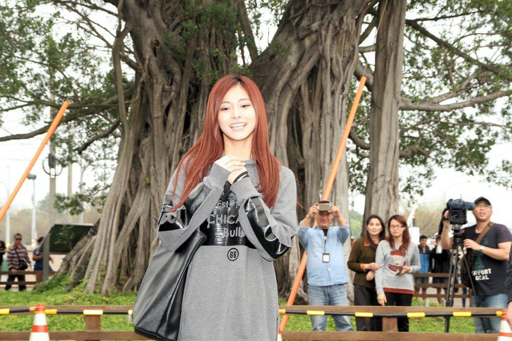 周子瑜去年在台南善化國小參加學力鑑定考試。 本報資料照片
