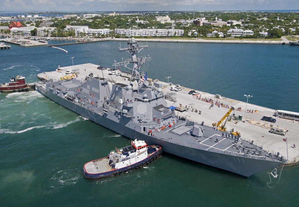 美國海軍驅逐艦「史普魯恩斯號」(USS Spruance)。 美聯社