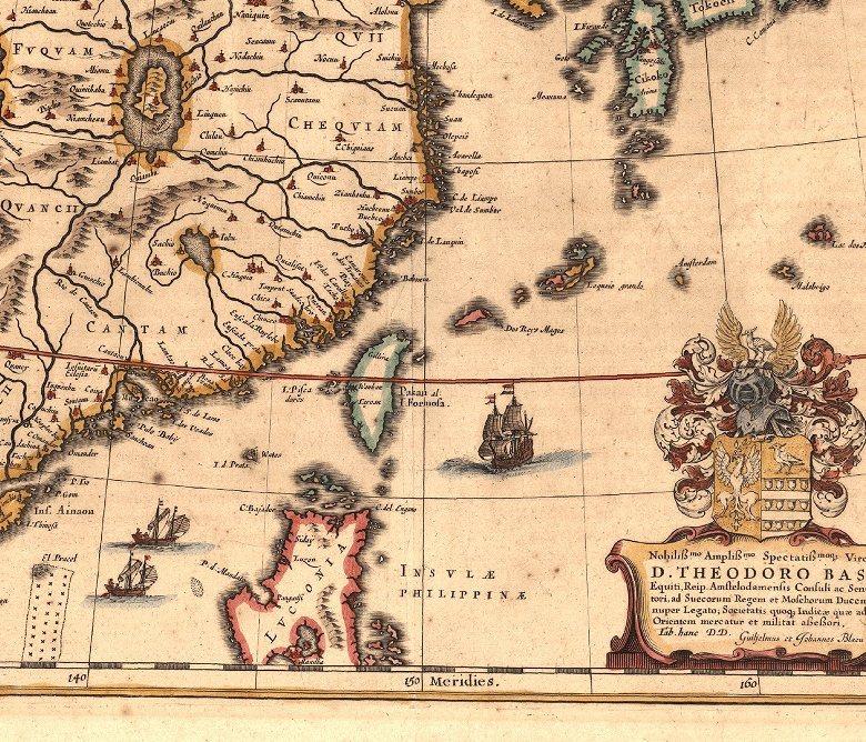 荷蘭人所繪的福爾摩沙臺灣(1635年)。 圖/wikimedia