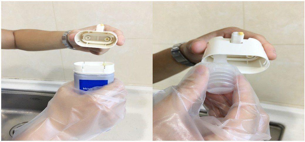 染髮後,使用專用的沖洗軟管清潔管嘴也很方便。攝影 : Lesley