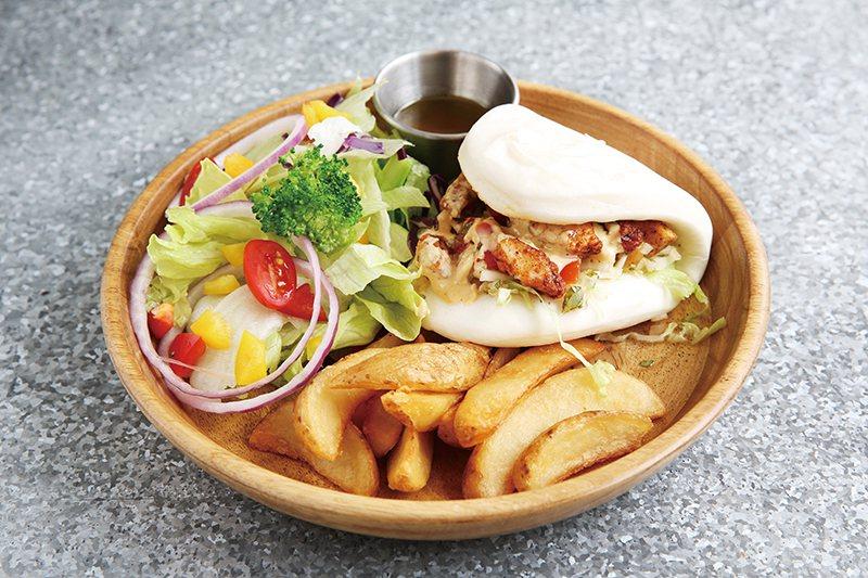 墨西哥雷諾薩鮮魚刈包240元/特色早午餐為台歐合璧的創意刈包,七種辛香料調成的獨...