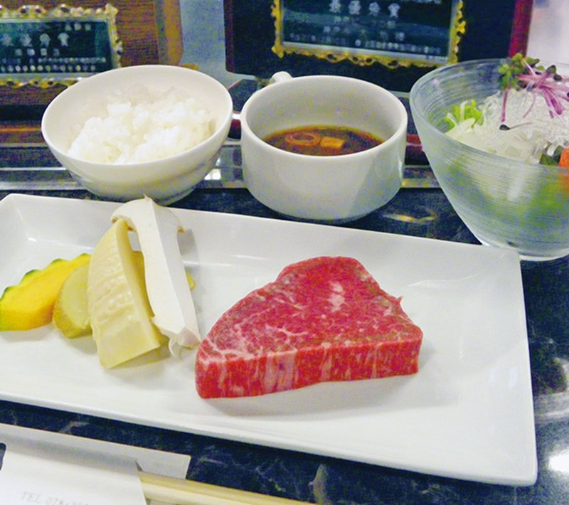 神戸牛ステーキセット 極上赤身(神戶牛排套餐 極上赤身)¥2500/80g/能...