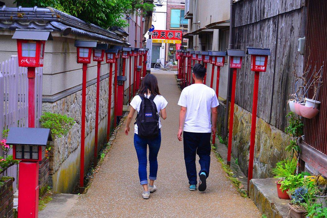 鳥取中部大城倉吉,保存了白壁建築。
