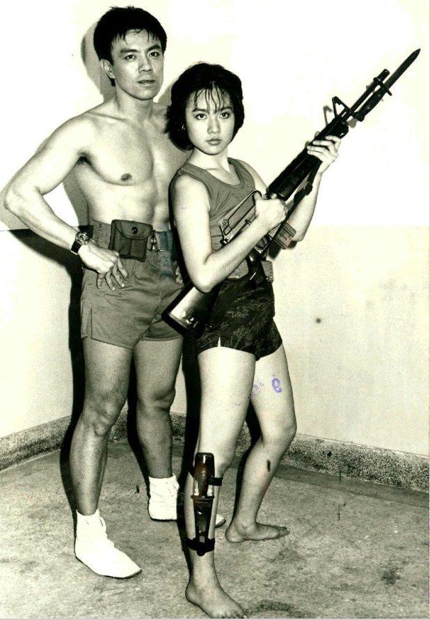 呂秀齡和王道在「金門女兵」合作。圖/報系資料照片