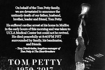 外電報導,66歲搖滾巨星湯姆佩蒂已於美國時間2日晚間8時許逝世。他的經紀人隨即也在官方臉書證實這項消息,表示湯姆佩蒂是在2日當天早上,於加州馬里布家中突然心臟驟停,緊急送往加州大學洛杉磯分校醫學中心...