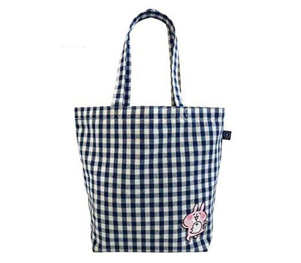 卡娜赫拉藍色格紋托特袋。 圖/新光三越提供