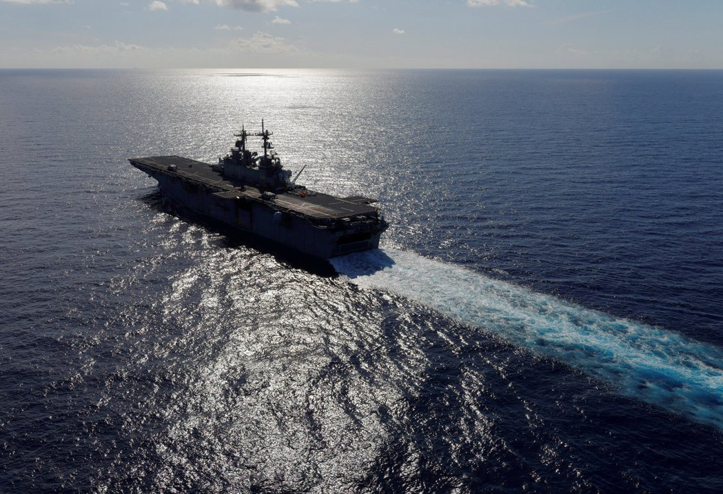 美國兩棲攻擊艦黃蜂號。路透社