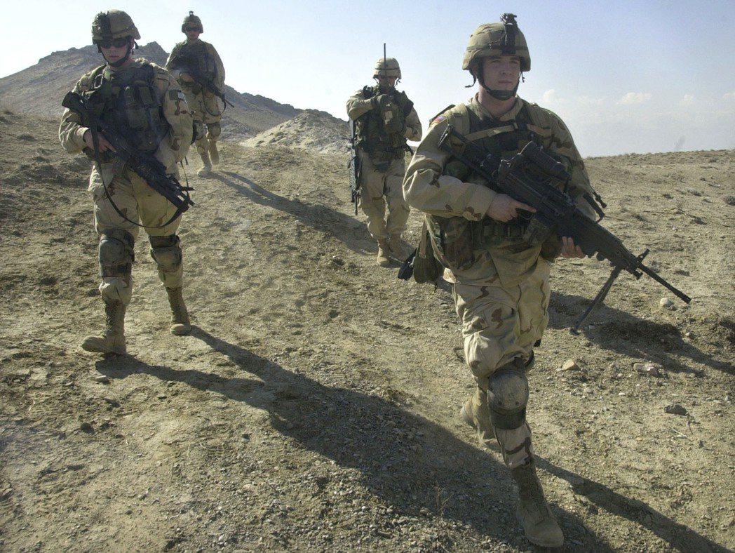 駐阿富汗美軍。美聯社