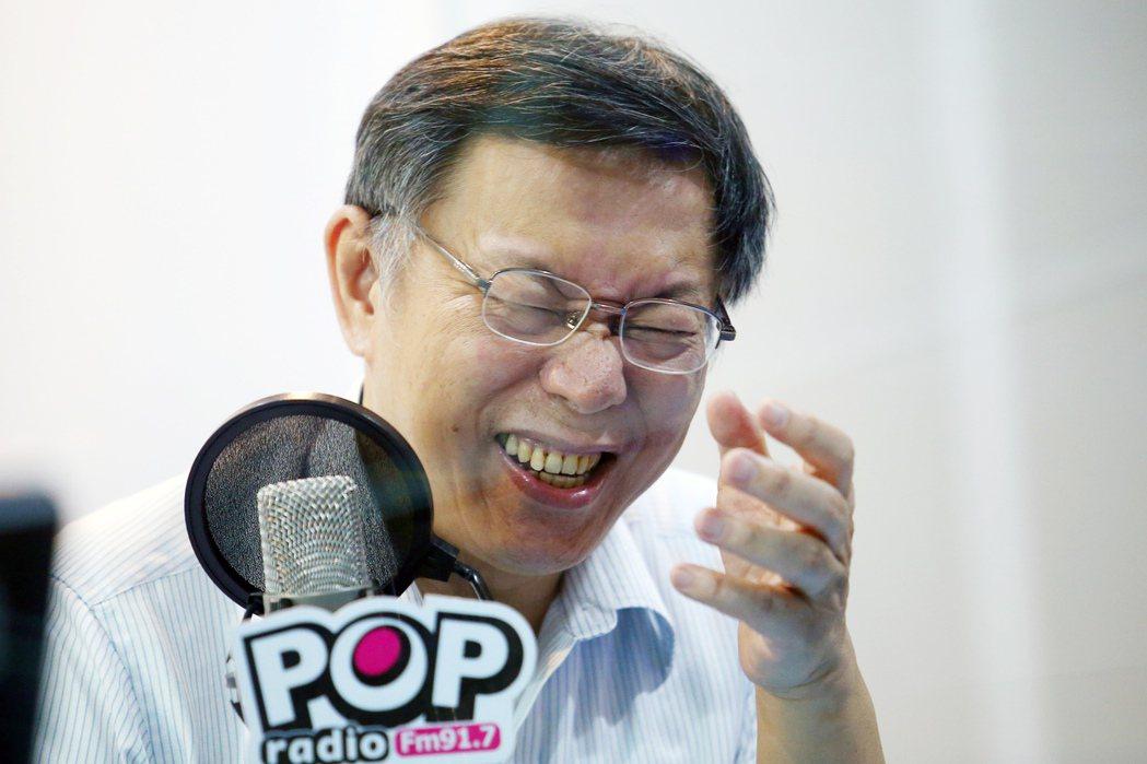 台北市長柯文哲接受電台專訪,被問到稱扁裝病的說法,他說有一次去找民進黨立法院黨團...