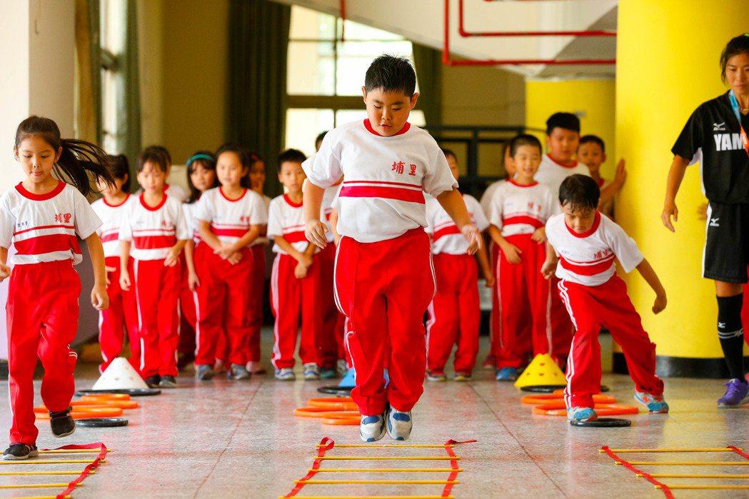 第九屆YAMAHA CUP足球校園巡迴活動來到南投埔里國小。圖/台灣山葉提供