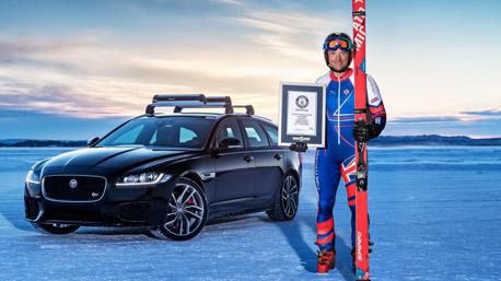 (影片) Jaguar XF Sportbrake 雪上「滑」出世界新紀錄