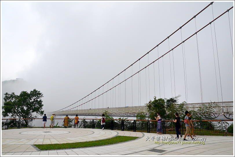 ↑雲梯入口平台是欣賞雲梯的好地方。