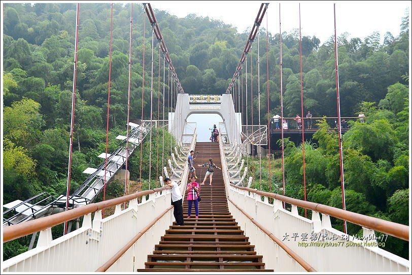 ↑太平雲梯真的有階梯,後段有160級階梯,爬升40公尺,連接5公尺高的西側橋塔。
