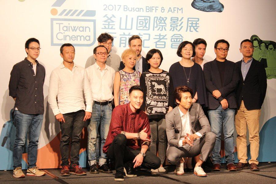 第22屆釜山國際影展5日召開行前記者會,入圍的劇組分享拍片趣事。(photo b