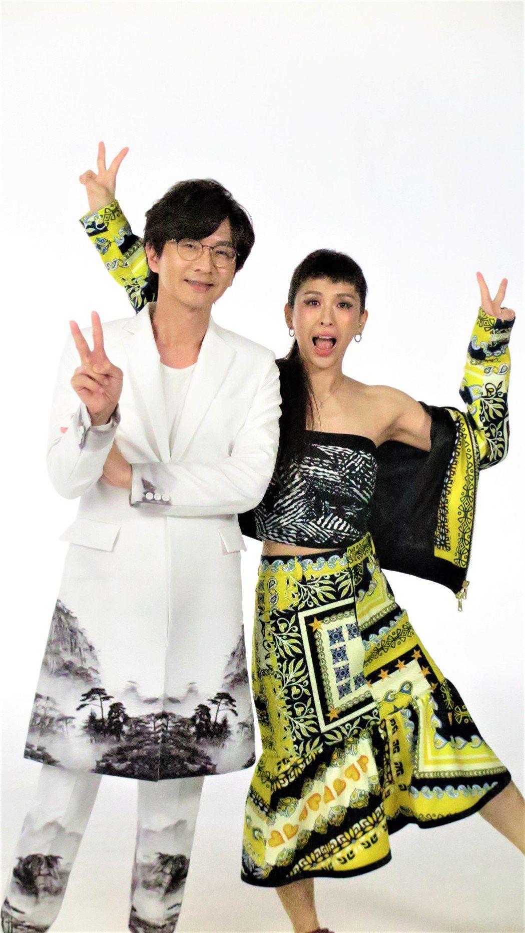林隆璇和魏如昀拍MV。圖/青田音樂文化提供
