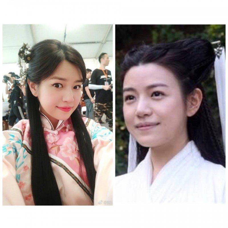 陳妍希以往臉型較圓。圖/摘自微博
