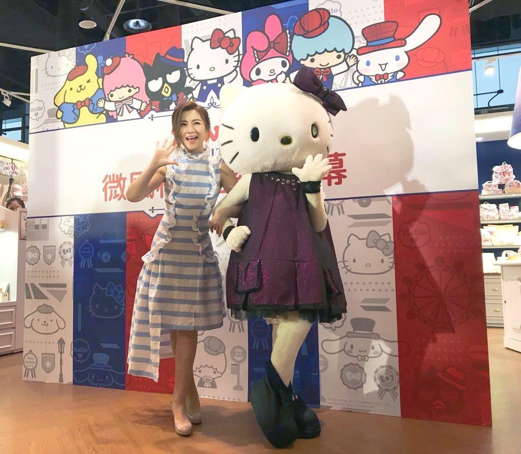 Selina 5日出席品牌一日店長活動。圖/華研提供