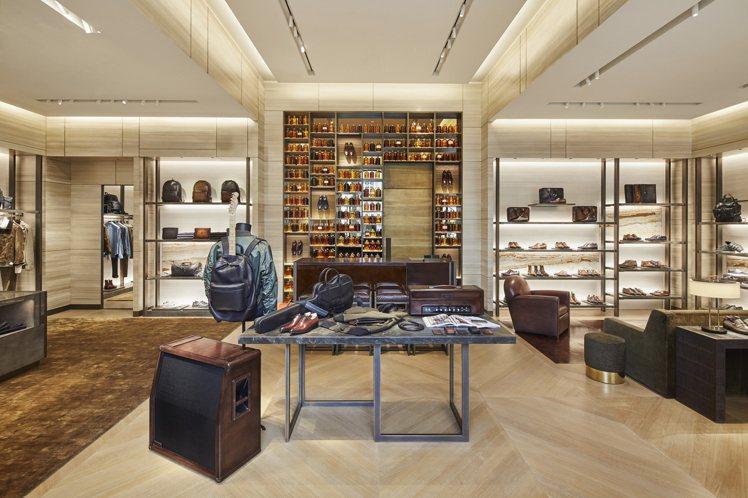 Berluti比佛利山莊旗艦店,店裝設計流露出對創辦人Alessandro Be...