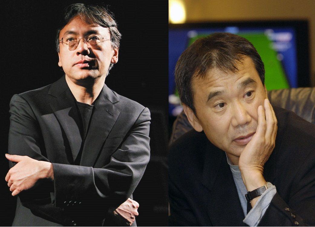 日本人氣作家村上春樹(右)無緣諾貝爾獎,日裔英籍的石黑一雄(左)卻爆冷獲獎,成為...