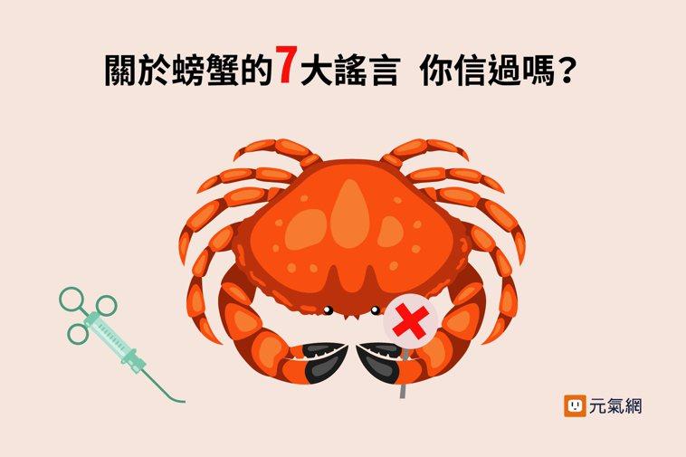 秋蟹來了!關於螃蟹的七大謠言 你信過嗎? 製圖/黃琬淑