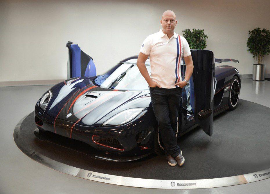Koenigsegg現任執行總裁Christian von Koenigsegg。圖/摘自Koenigsegg