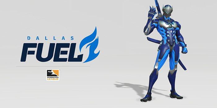 Dallas Fuel 的正式配色也定為藍、灰以及黑色,向傳統致上敬意
