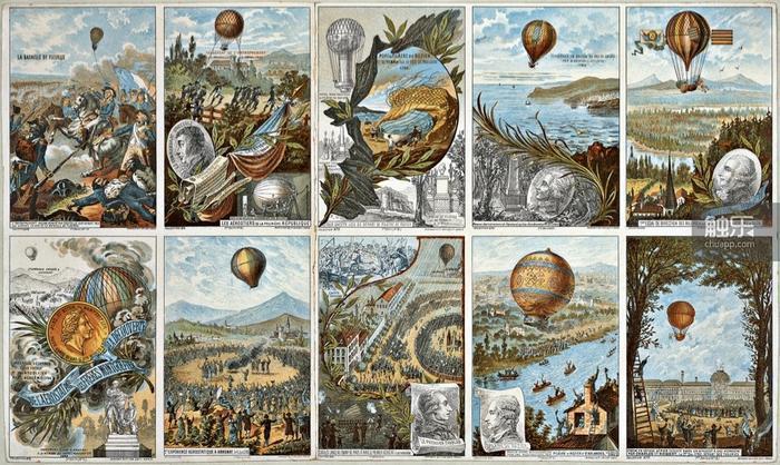 早期熱氣球的外表極為華麗,但材質應該跟廢土版的相差不多,