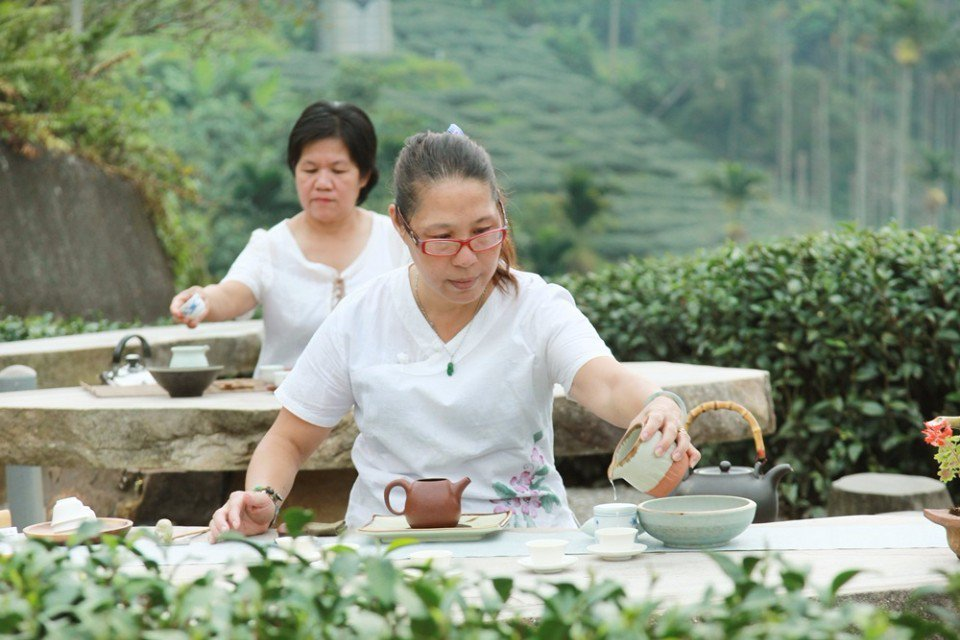 生元茶莊的大地茶席體驗。(攝影/陳德偉)