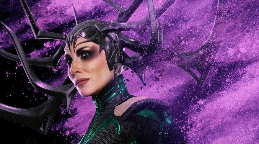 凱特布蘭琪在「雷神索爾3:諸神黃昏」裡面飾演大反派冥后海拉。圖/摘自推特