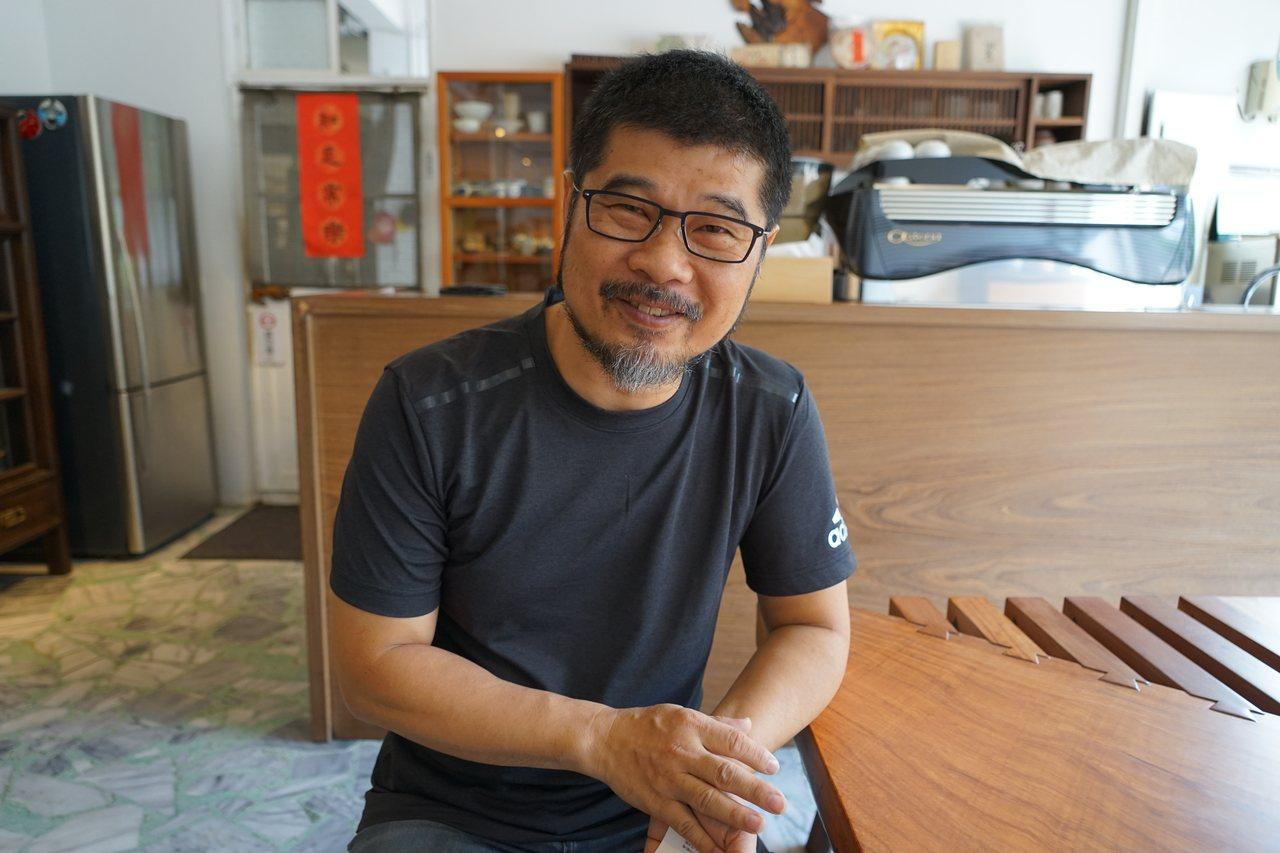 意念工房負責人范揚田將傳統美學融合現代工藝。記者陳妍霖/攝影