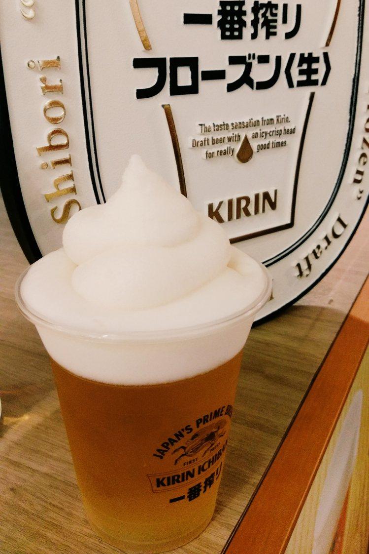 KIRIN BEER啤酒冰沙。圖/Jamie Chiang ※ 提醒您:禁止酒駕...