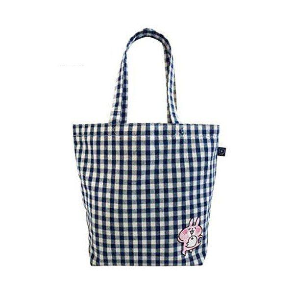 卡娜赫拉藍色格紋托特袋。圖/新光三越提供