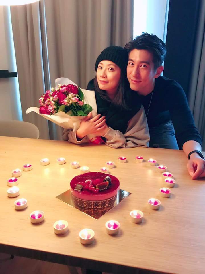 修杰楷(右)為賈靜雯生日準備驚喜。圖/摘自臉書
