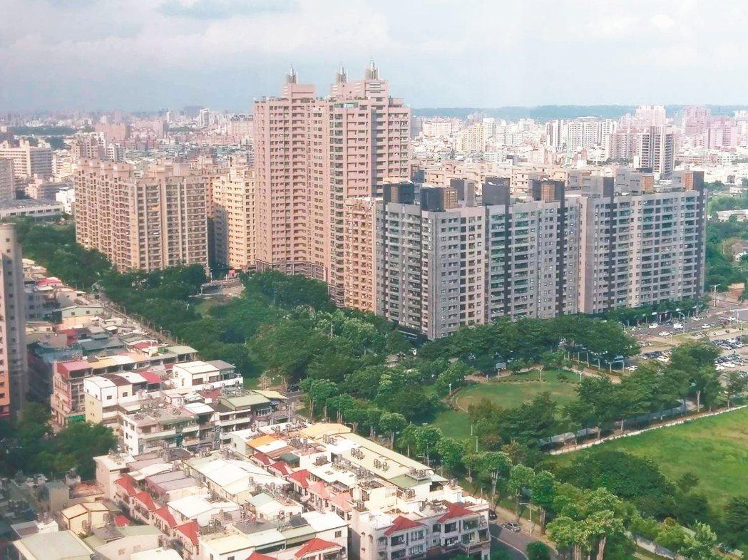 高雄房地產市場有漲有跌,市區凹子底一帶仍是蛋黃區。 記者謝梅芬/攝影