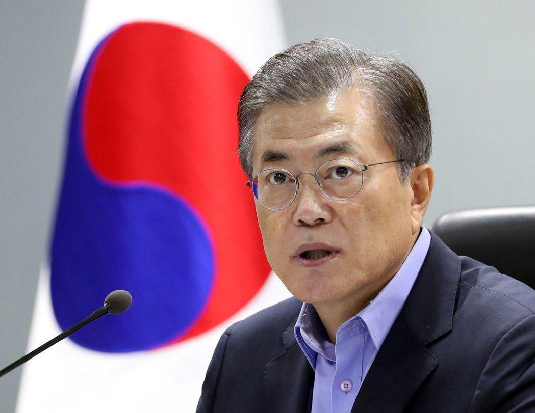 南韓總統文在寅。 路透